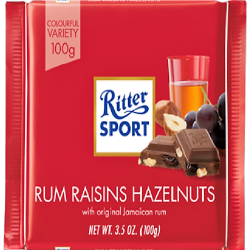 ritter sport rum raisins hazelnuts. Black Bedroom Furniture Sets. Home Design Ideas
