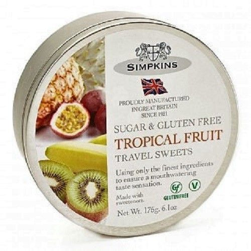 Simpkins Tropical Drops SUGAR FREE (Travel Tin)